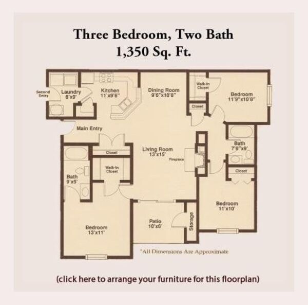 Pre-Leasing Three Bedroom