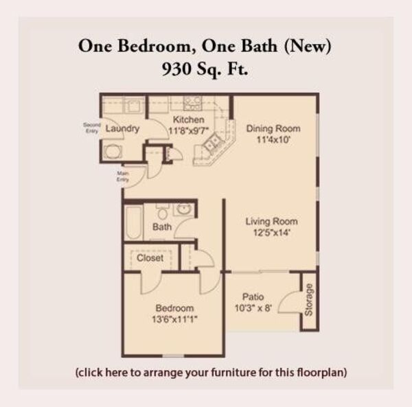 Pre-Leasing One Bedroom