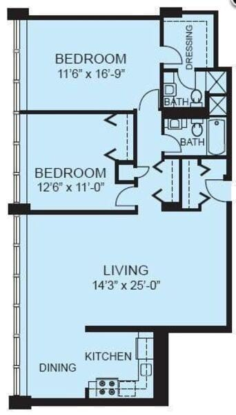 Plan 2C - Two Bedroom