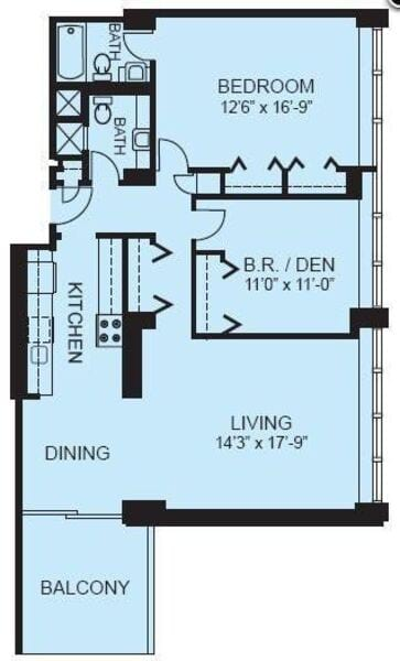 Plan 2D - Two Bedroom