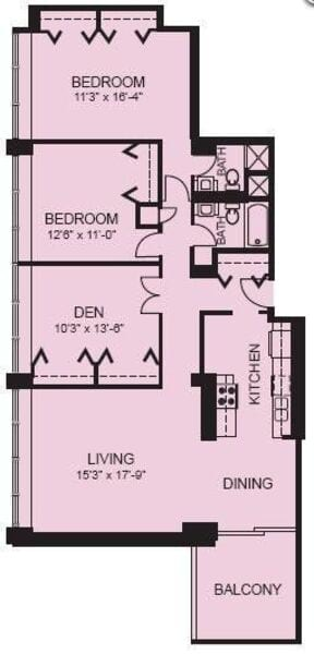 Plan 3A - Three Bedroom