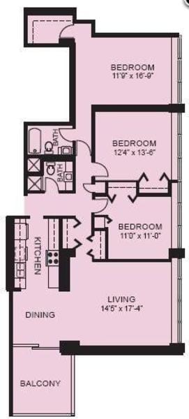 Plan 3H - Three Bedroom