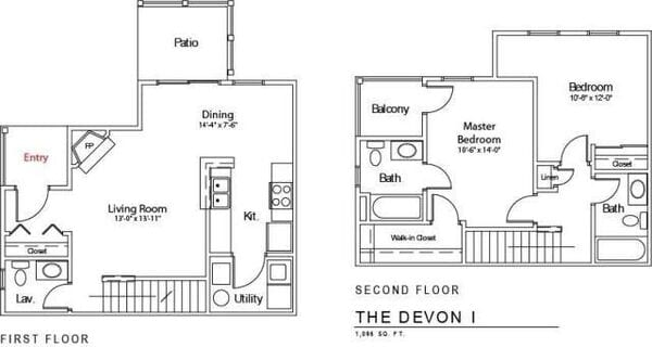 The Devon I (with balcony)