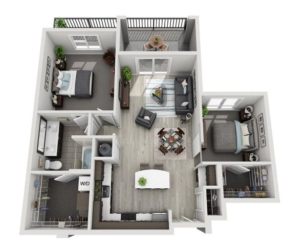 C1 (1BR and Den)