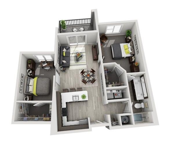 C2 (1BR and Den)