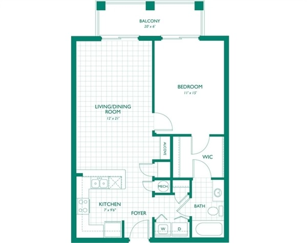 1BR Apartment for Rent on Sw St St, Miami
