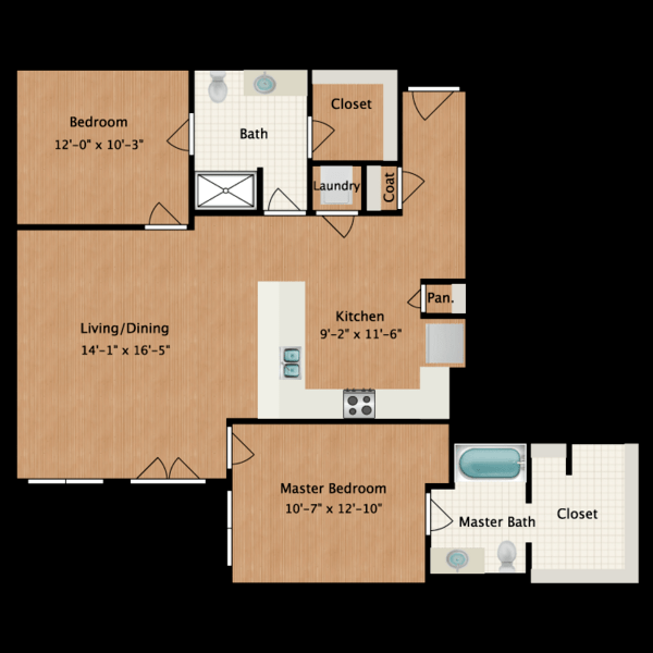 2 Bedroom (1104 sf)