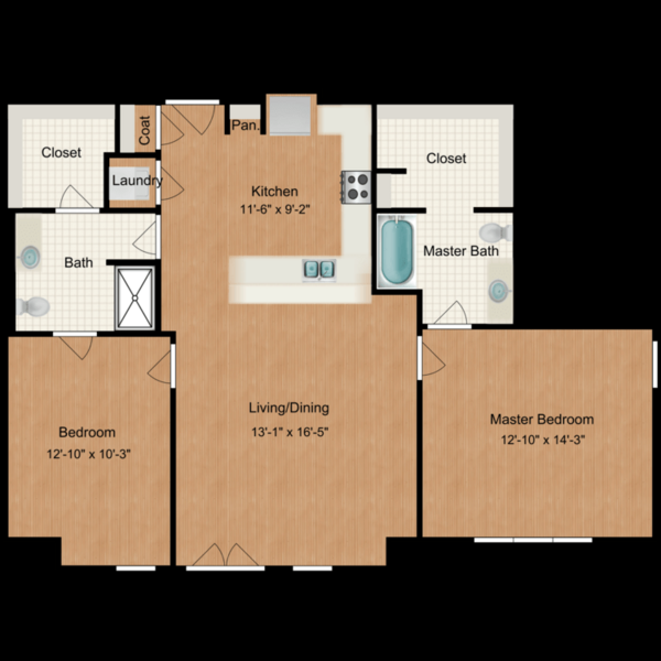 2 Bedroom (1104sf)