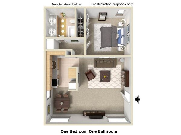 One Bedroom One Bathroom