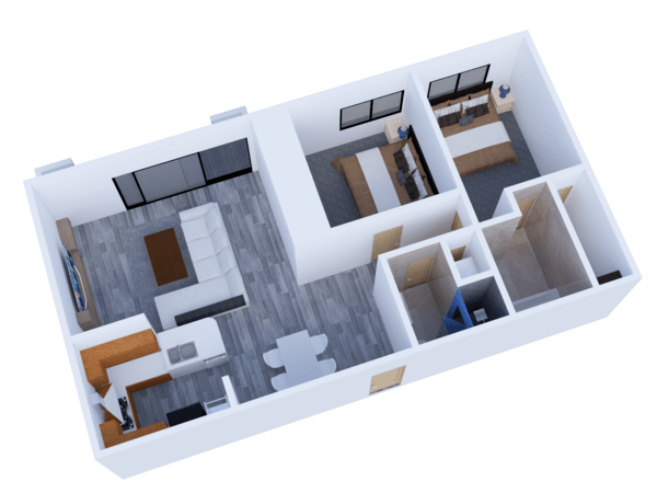 Two bedroom / Two baths