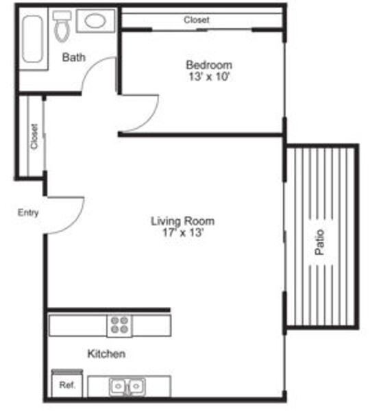 1 Bed\ 1 Bath - Plan B