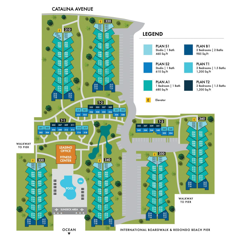Ocean Club's Site Map