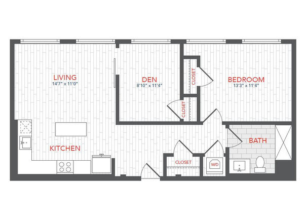 LOFTS 1 Bed Den C3
