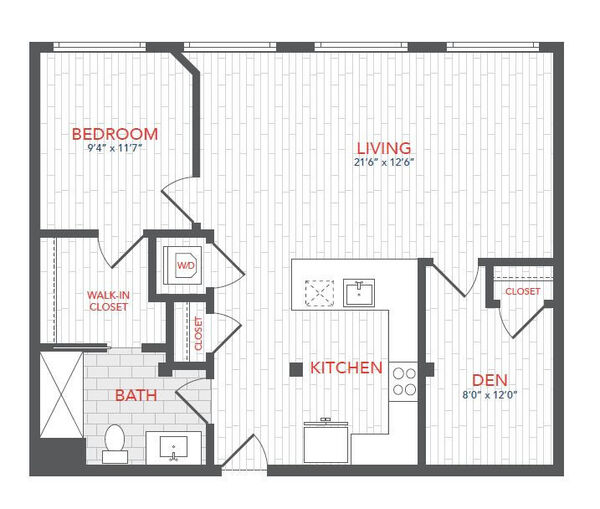 LOFTS 1 Bed Den F1