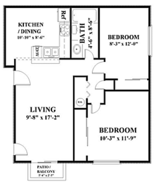 2 Bedroom Dishwasher