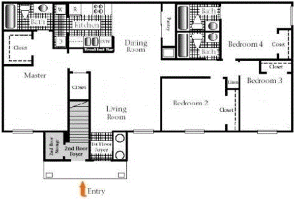 Four Bedroom, Three Bath