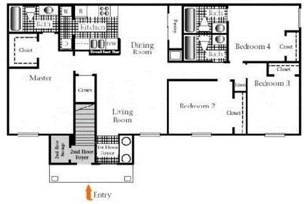 Four Bedroom Three Bath