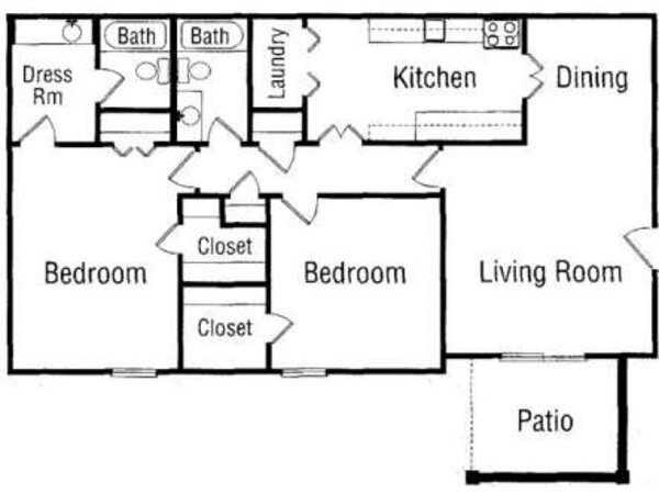 Two Bedroom, Two Bathroom