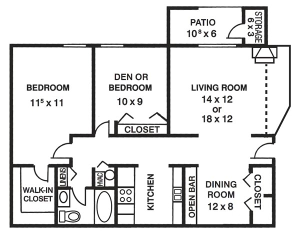 Elm - One + Den or Two Bedroom