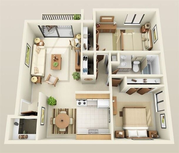 3 Bedroom Apartments In Michigan: Lakeside Village Apartments