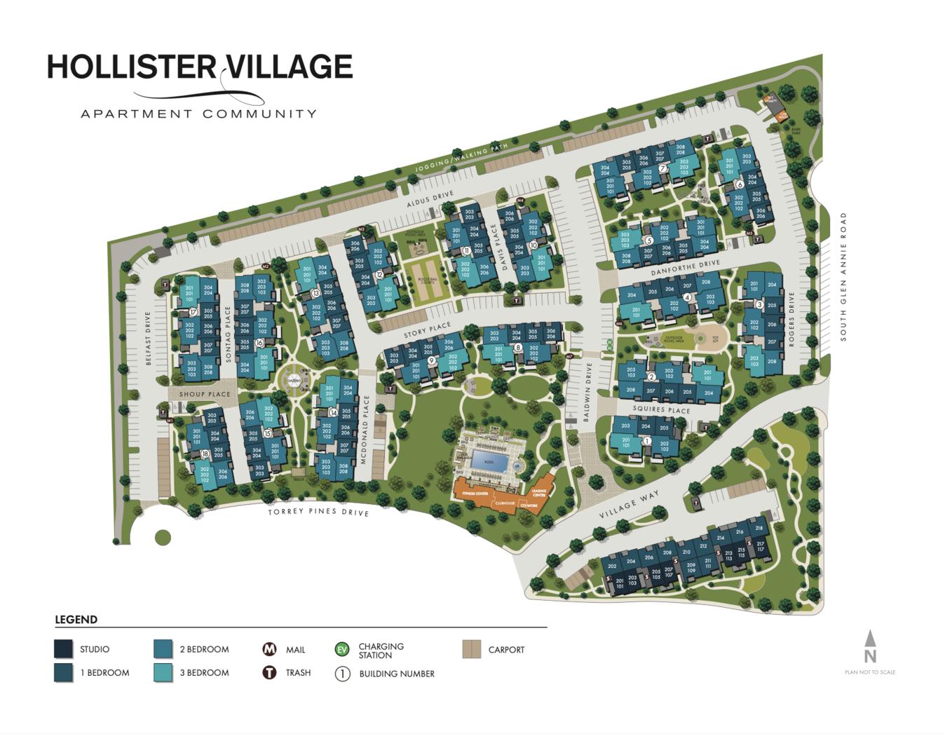 HOLLISTER VILLAGESite Map