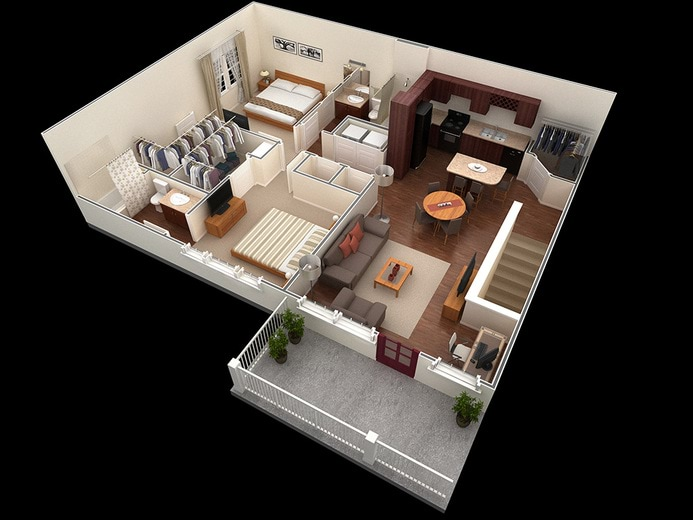 Springs at corpus christi apartments corpus christi tx for 12x12 living room furniture layout