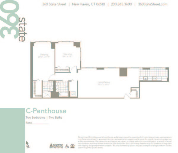 Two Bedroom C Penthouse