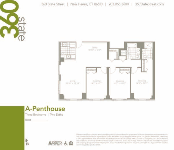 Three Bedroom A Penthouse