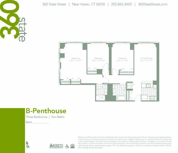 Three Bedroom B Penthouse