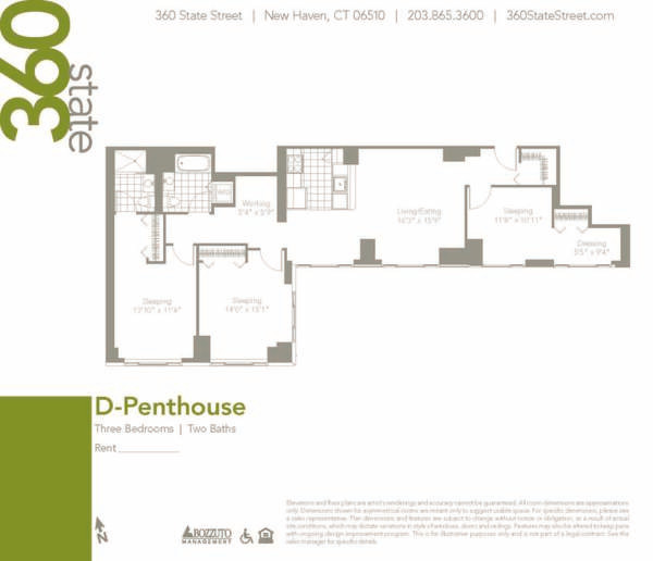 Three Bedroom D Penthouse