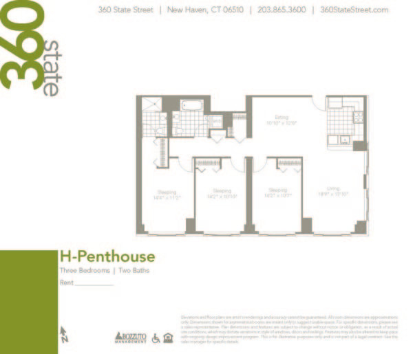 Three Bedroom H Penthouse