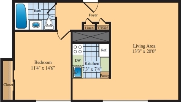 One Bedroom (B3)