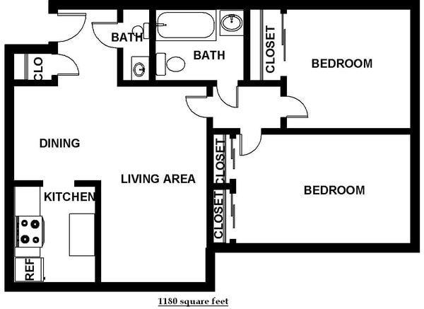 Two bedroom 1.5 Bath (C5)
