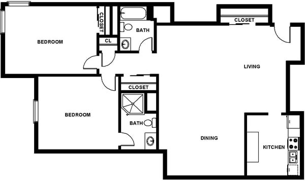Two bedroom 2 Bath (C6)