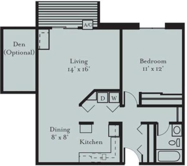 Wren - One Bedroom, One Bath (1B, 1B2)