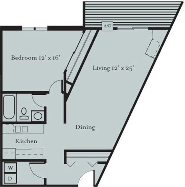 Meadowlark - One Bedroom, One Bath (1F)