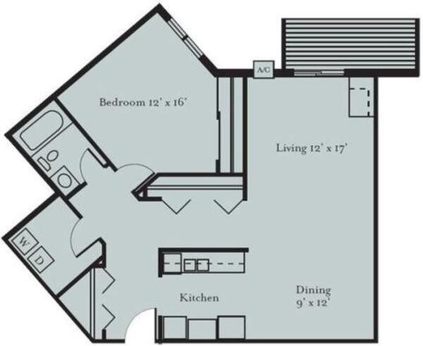 Blue Jay - One Bedroom, One Bath (1D)