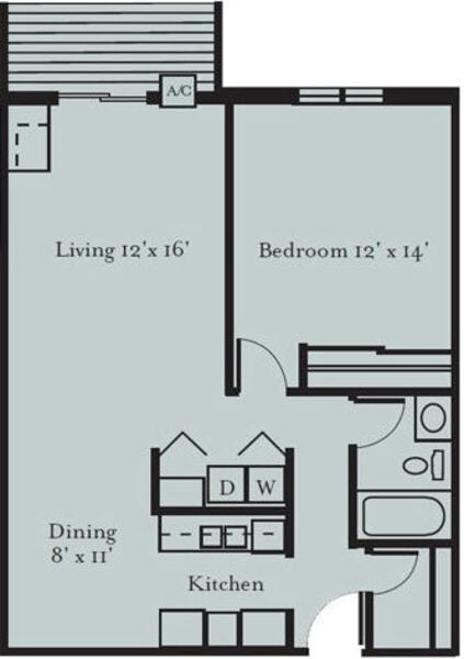 Robin - One Bedroom, One Bath (1A)