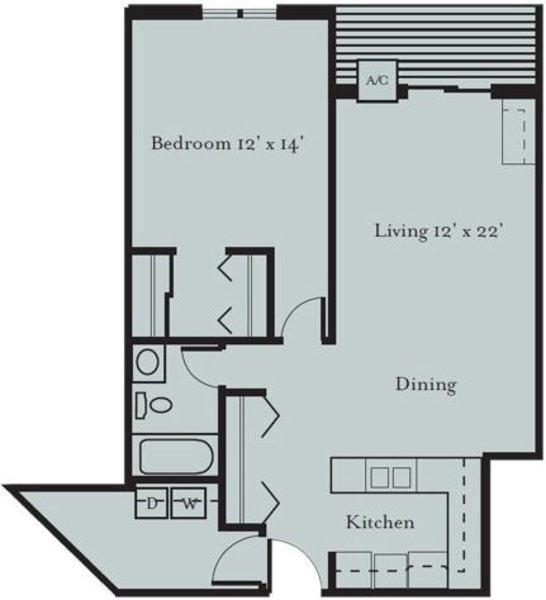 Sparrow - One Bedroom, One Bath with Den (1G2)