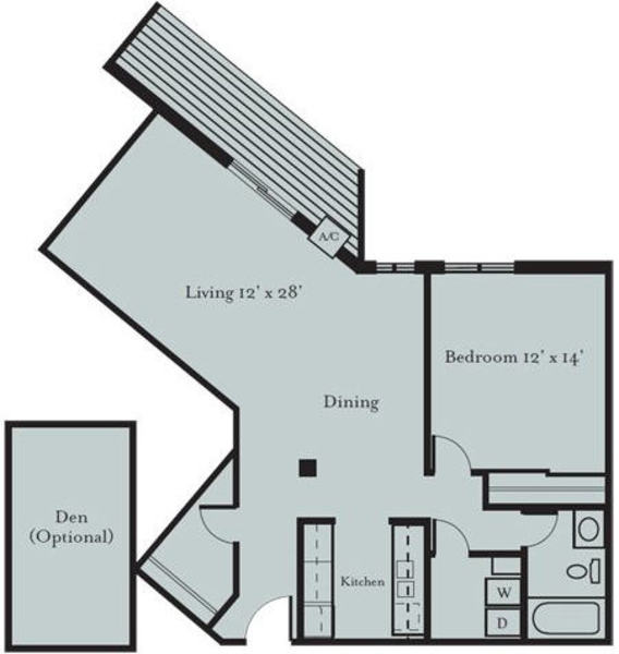 Osprey - One Bedroom, One Bath (1E, 1E2)