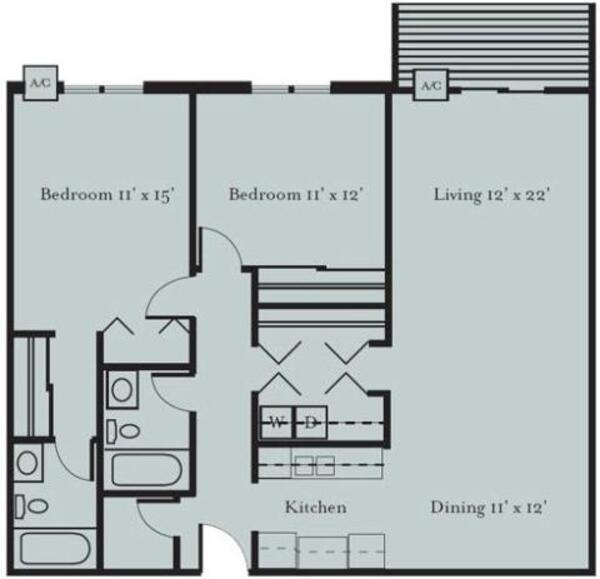 Loon - Two Bedroom, Two Bath (2A)