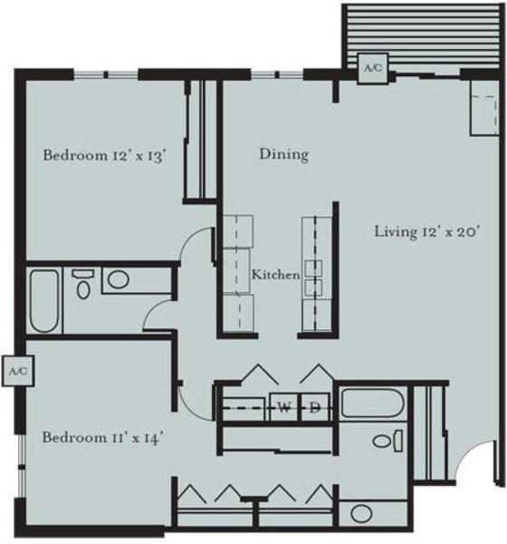 Mourning Dove - Two Bedroom, Two Bath (2B)